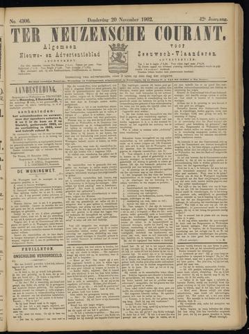 Ter Neuzensche Courant. Algemeen Nieuws- en Advertentieblad voor Zeeuwsch-Vlaanderen / Neuzensche Courant ... (idem) / (Algemeen) nieuws en advertentieblad voor Zeeuwsch-Vlaanderen 1902-11-20