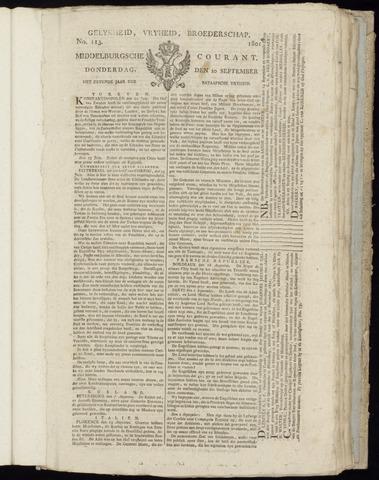 Middelburgsche Courant 1801-09-10