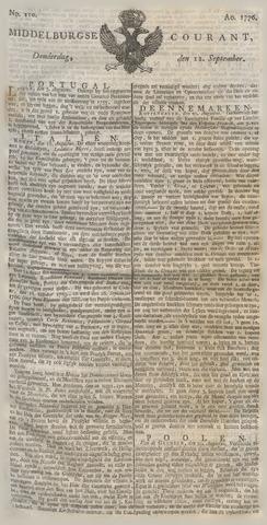 Middelburgsche Courant 1776-09-12