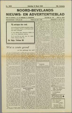 Noord-Bevelands Nieuws- en advertentieblad 1953-03-14