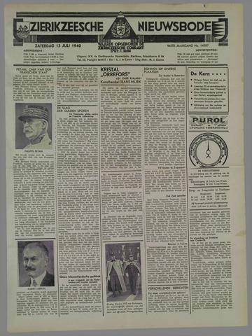 Zierikzeesche Nieuwsbode 1940-07-13