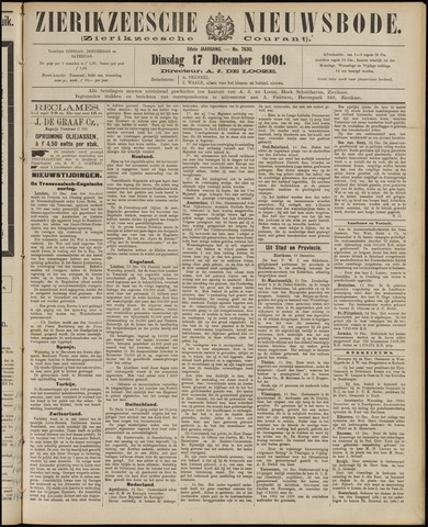 Zierikzeesche Nieuwsbode 1901-12-17