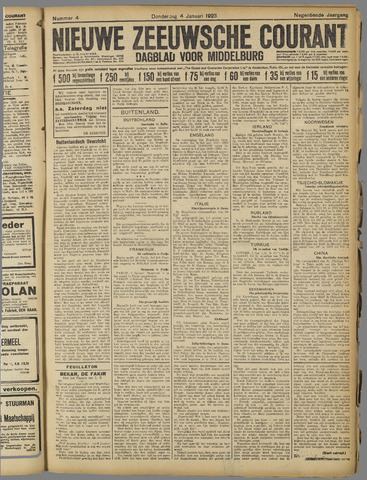 Nieuwe Zeeuwsche Courant 1923-01-04