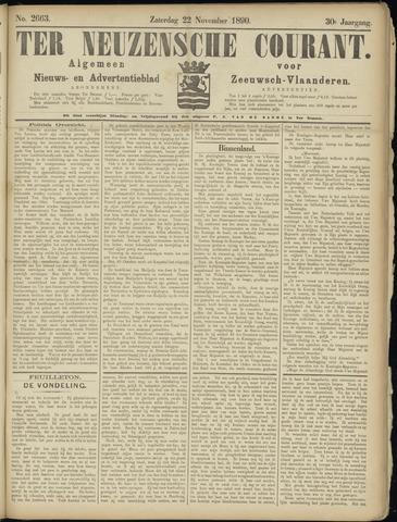 Ter Neuzensche Courant. Algemeen Nieuws- en Advertentieblad voor Zeeuwsch-Vlaanderen / Neuzensche Courant ... (idem) / (Algemeen) nieuws en advertentieblad voor Zeeuwsch-Vlaanderen 1890-11-22