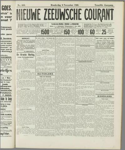 Nieuwe Zeeuwsche Courant 1916-11-09