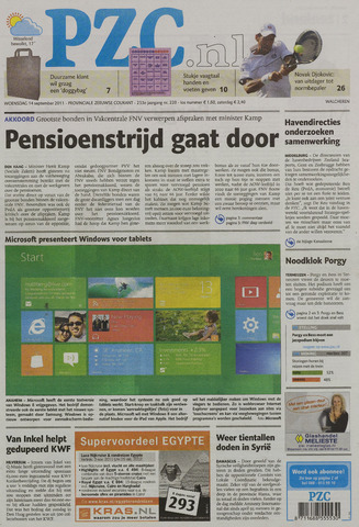 Provinciale Zeeuwse Courant 2011-09-14
