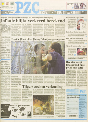 Provinciale Zeeuwse Courant 2003-08-07