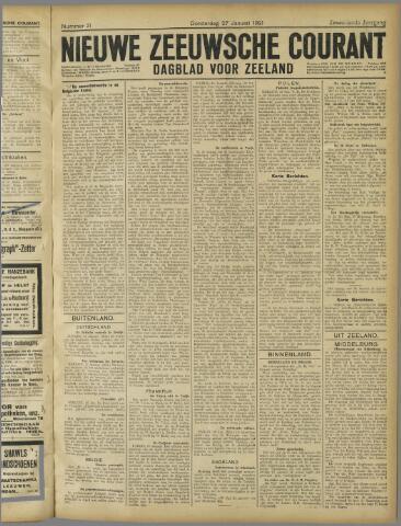 Nieuwe Zeeuwsche Courant 1921-01-27