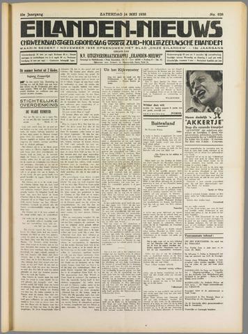 Eilanden-nieuws. Christelijk streekblad op gereformeerde grondslag 1938-05-14