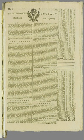 Middelburgsche Courant 1809-01-12