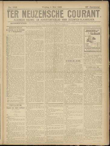 Ter Neuzensche Courant. Algemeen Nieuws- en Advertentieblad voor Zeeuwsch-Vlaanderen / Neuzensche Courant ... (idem) / (Algemeen) nieuws en advertentieblad voor Zeeuwsch-Vlaanderen 1928-05-04