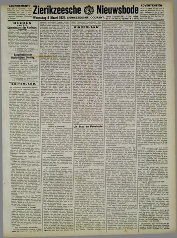 Zierikzeesche Nieuwsbode 1921-03-09