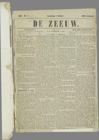 De Zeeuw. Christelijk-historisch nieuwsblad voor Zeeland 1890-10-02