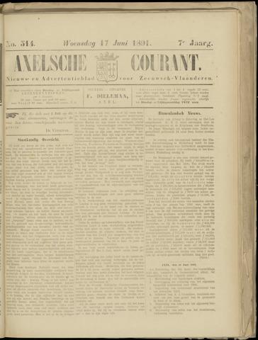 Axelsche Courant 1891-06-17