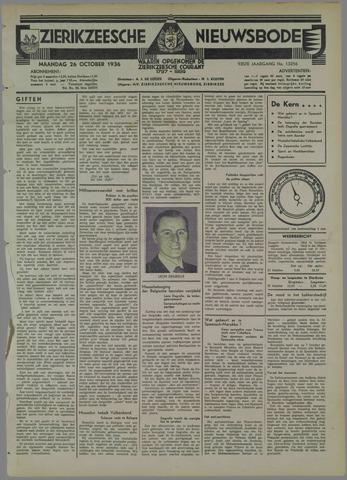 Zierikzeesche Nieuwsbode 1936-10-26