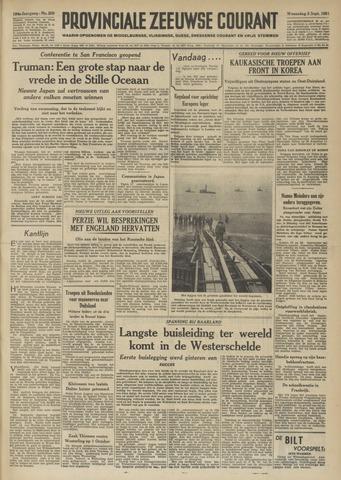Provinciale Zeeuwse Courant 1951-09-05