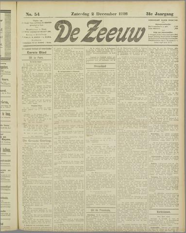 De Zeeuw. Christelijk-historisch nieuwsblad voor Zeeland 1916-12-02