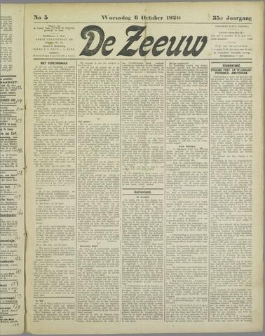 De Zeeuw. Christelijk-historisch nieuwsblad voor Zeeland 1920-10-06