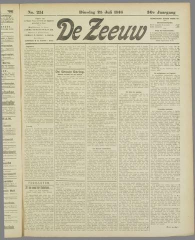 De Zeeuw. Christelijk-historisch nieuwsblad voor Zeeland 1916-07-25