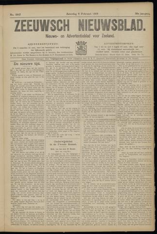 Ter Neuzensch Volksblad. Vrijzinnig nieuws- en advertentieblad voor Zeeuwsch- Vlaanderen / Zeeuwsch Nieuwsblad. Nieuws- en advertentieblad voor Zeeland 1919-02-08
