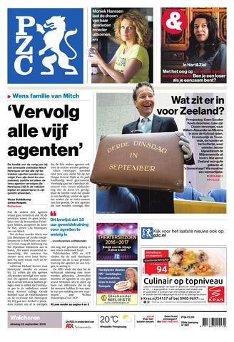 Provinciale Zeeuwse Courant 2016-09-20