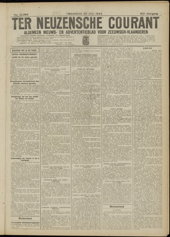 Ter Neuzensche Courant. Algemeen Nieuws- en Advertentieblad voor Zeeuwsch-Vlaanderen / Neuzensche Courant ... (idem) / (Algemeen) nieuws en advertentieblad voor Zeeuwsch-Vlaanderen 1942-07-20