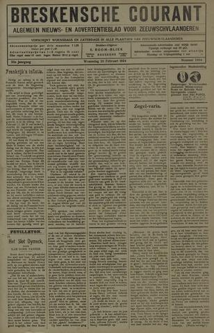 Breskensche Courant 1924-02-20