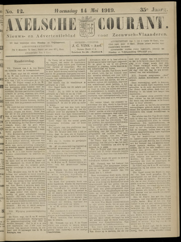 Axelsche Courant 1919-05-14