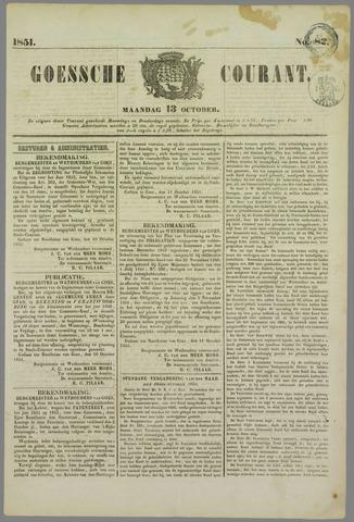 Goessche Courant 1851-10-13