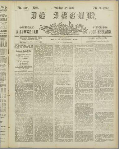 De Zeeuw. Christelijk-historisch nieuwsblad voor Zeeland 1910-06-24