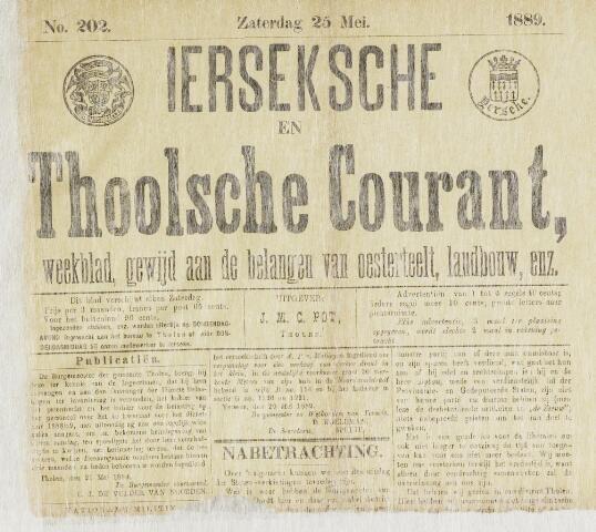 Ierseksche en Thoolsche Courant 1889-05-25