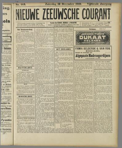 Nieuwe Zeeuwsche Courant 1919-12-13