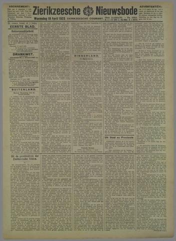 Zierikzeesche Nieuwsbode 1923-04-18