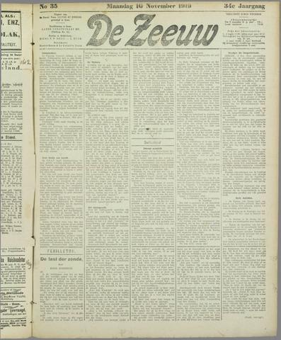 De Zeeuw. Christelijk-historisch nieuwsblad voor Zeeland 1919-11-10