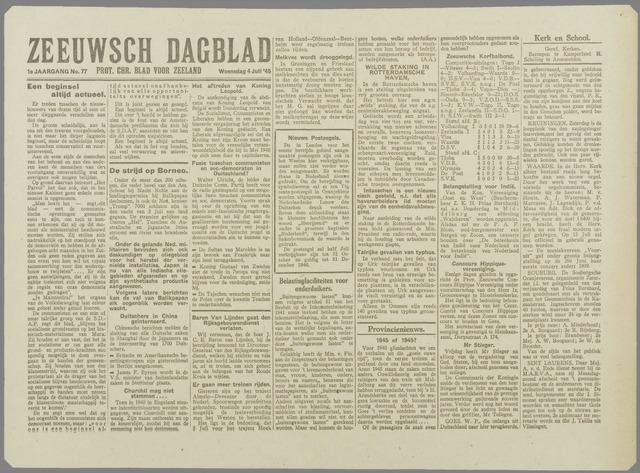 Zeeuwsch Dagblad 1945-07-04