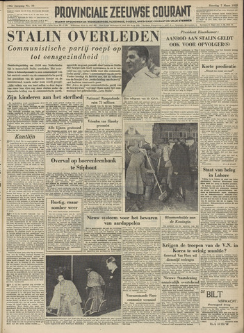 Provinciale Zeeuwse Courant 1953-03-07