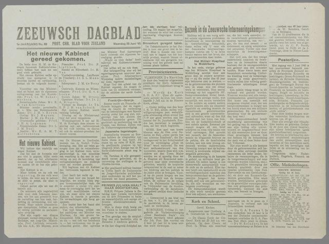 Zeeuwsch Dagblad 1945-06-25