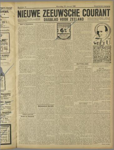 Nieuwe Zeeuwsche Courant 1921-01-24