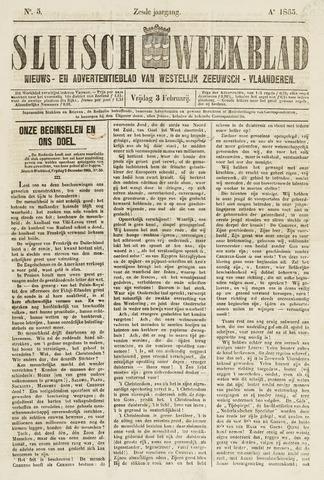 Sluisch Weekblad. Nieuws- en advertentieblad voor Westelijk Zeeuwsch-Vlaanderen 1865-02-03