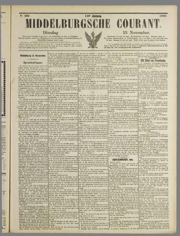 Middelburgsche Courant 1906-11-13