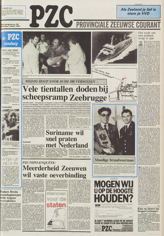 Provinciale Zeeuwse Courant 1987-03-07
