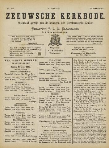 Zeeuwsche kerkbode, weekblad gewijd aan de belangen der gereformeerde kerken/ Zeeuwsch kerkblad 1890-06-21
