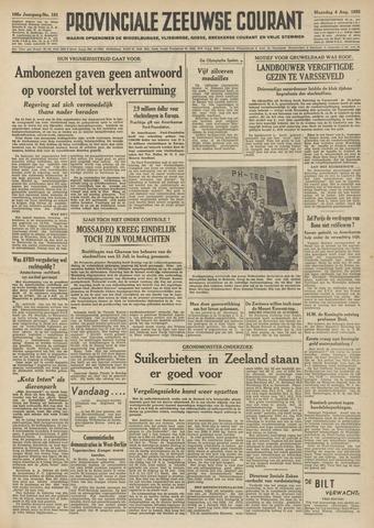 Provinciale Zeeuwse Courant 1952-08-04