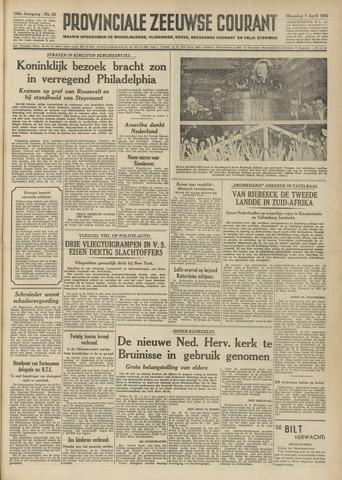 Provinciale Zeeuwse Courant 1952-04-07