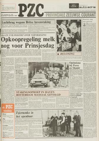 Provinciale Zeeuwse Courant 1984-09-06