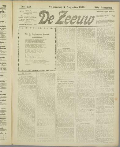 De Zeeuw. Christelijk-historisch nieuwsblad voor Zeeland 1916-08-02
