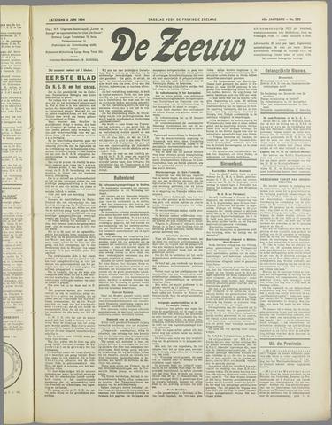 De Zeeuw. Christelijk-historisch nieuwsblad voor Zeeland 1934-06-02
