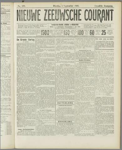 Nieuwe Zeeuwsche Courant 1916-09-05