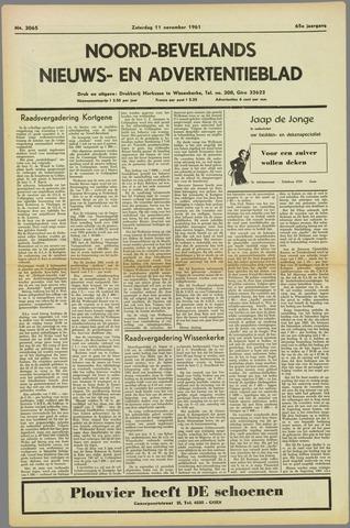 Noord-Bevelands Nieuws- en advertentieblad 1961-11-11