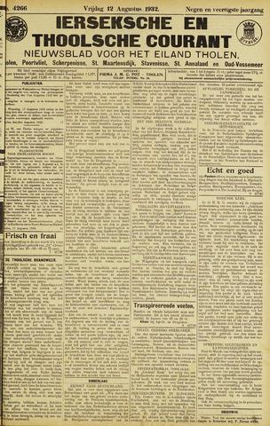 Ierseksche en Thoolsche Courant 1932-08-12